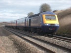 An HST approaches Bourton on the Down Main