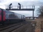 An HST passes Bourton on the Down Main