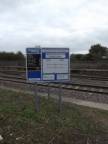 Shiny but soon to be obsolete sign at Shrivenham