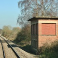 Wootton Bassett Incline Signal Box from passing Down Train