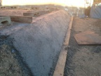 First layout of foundations laid