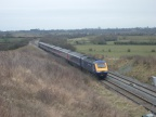 An HST on the Up Badminton heads towards Wootton Bassett