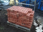 Successfully cut-up bricks
