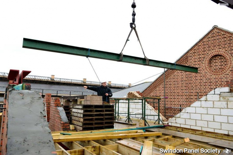 Roof Beams in Position | Swindon Panel Society