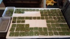 ...with the tiles carefully sorted & stored on polystyrene sheets for potential future use.