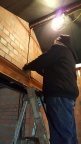 Meanwhile, electrician David continues to finalise the wiring in the early signalling area, in readiness for fitments.